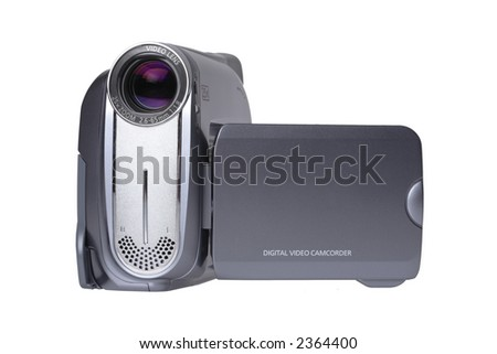 Camcorder Front View - stock photo