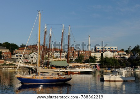 Camden harbor, Maine #788362219