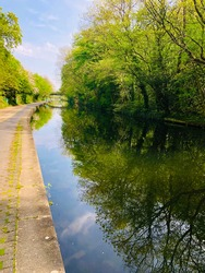 Camden town Canal COVID 19 London Reflections on a canal