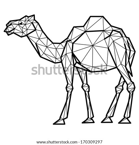 camel geometric (illustration of a many triangles)