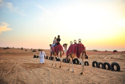 Camel Trek at Desert Safari Dubai.