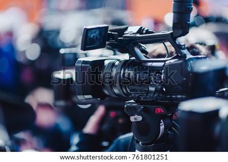 Camera at a press conference