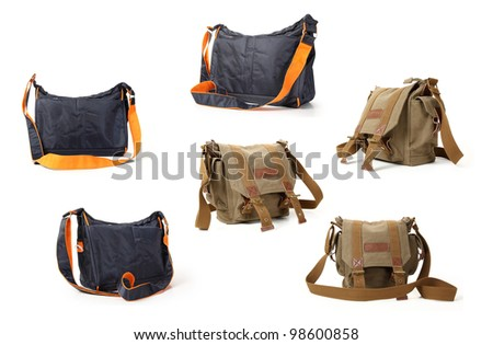 camera bag on a white background.