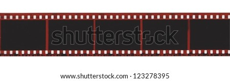 Camera film strip isolated on white