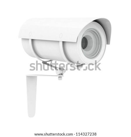 Camera image on white background