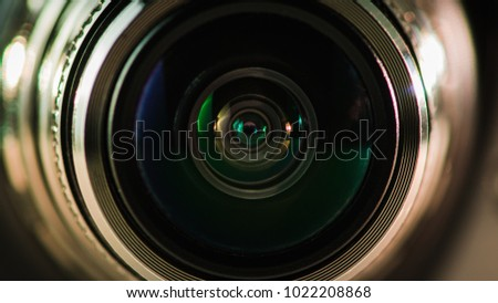 Camera lens and beautiful multi-colored silver backlight