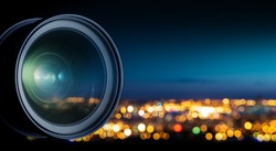 Camera lens and city