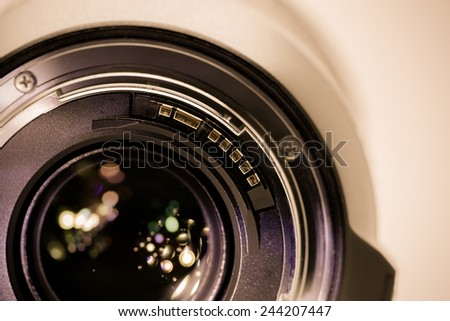 Camera lens closeup - Shallow depth of field #244207447