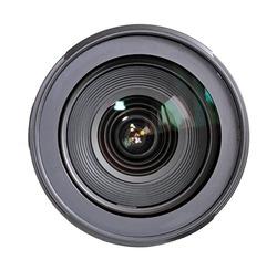 Camera lens isolated on white background.