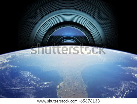 camera observing of the world ( The image of the Earth from www.nasa.gov)