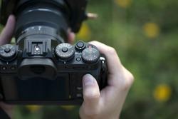 Camera on hand, Landscape photographer, Nature photographer, Professional photographer works