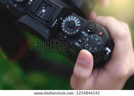 Camera on hand, Landscape photographer, Nature photographer, Professional photographer works