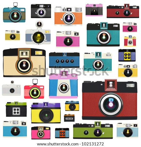 camera pattern ,retro and vintage style