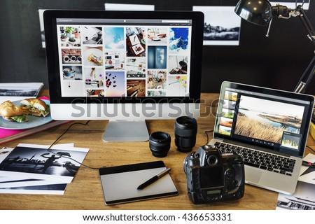 Camera Photography Design Studio Editing Concept