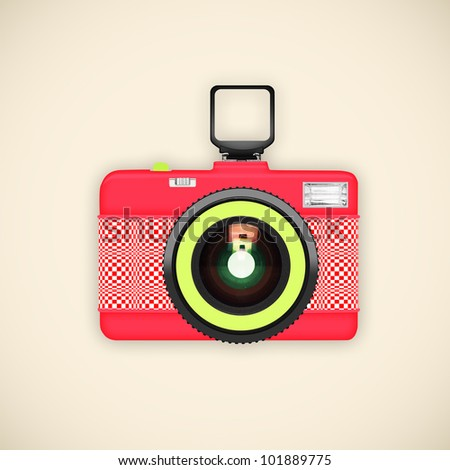 camera retro and vintage style ,graphic design