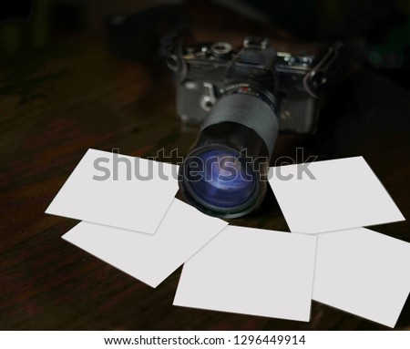 Camera with Blank Photos #1296449914