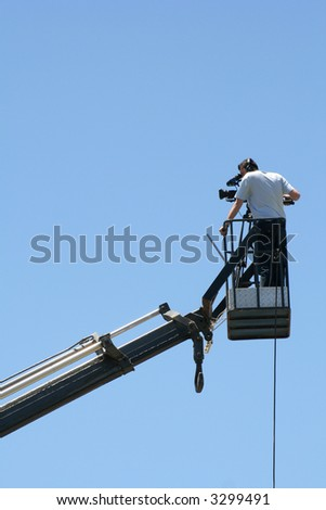 cameraman working  on location