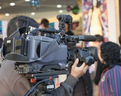 Cameraman working - Reality TV in Hong Kong, China