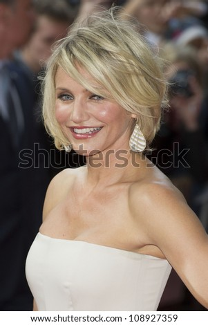 Cameron Diaz arriving for the UK Premiere of 'What To Expect When You're Expecting' at the Imax Cinema, London. 22/05/2012 Picture by: Simon Burchell / Featureflash