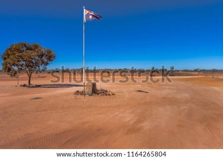 Camerons Corner in outback Queensland, Australia. #1164265804