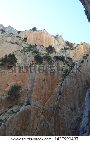 Caminito del rey rock formations in southern Spain. #1437990437