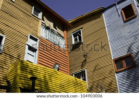Caminitos in La Boca. Buenos Aires, Argentina.