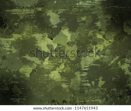 Camouflage military background with abstract scratches