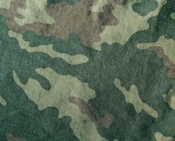 Camouflage textile cloth texture. Abstract background and texture for design