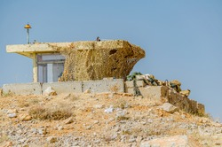 Camouflaged IDF observation point on Mount Hermon, Israel
