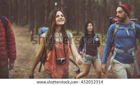 Camp Forest Adventure Travel Relax Concept