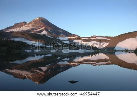 Camp Lake beneath South Sister Mountain, Oregon