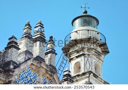 CAMPECHE, MEXICO - FEBRUARY 18,2014: Central Historic City in Mexico colonial architecture