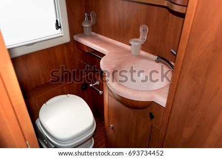 Camper, caravan or boat bathroom