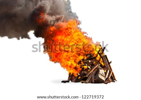 campfire ,isolate on white background