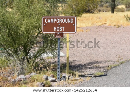 Campground Host Off Duty Sign