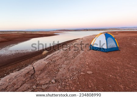 Camping Adventure on the Desert Shore of Lake Powell (Glen Canyon National Recreation Area in Arizona and Utah)