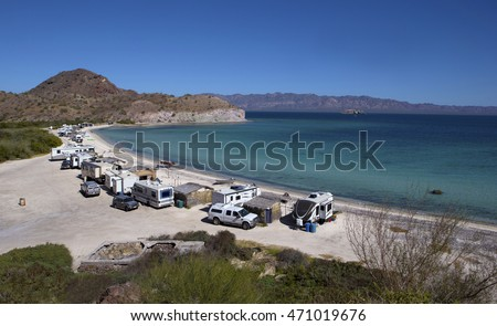 Camping in Baja Sur, Mexico