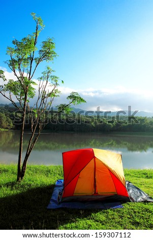 camping in spring