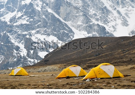 Camping in the Everest Region of Nepal