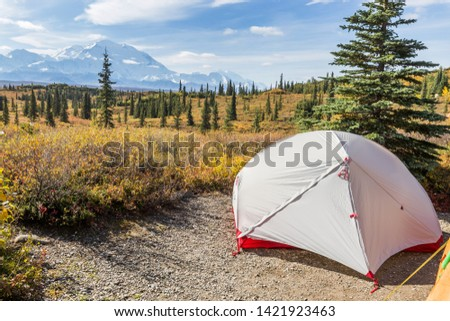 Camping in the wilderness of Alaska #1421923463