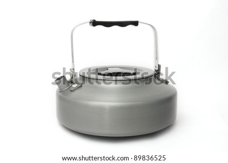 camping kettle isolated.