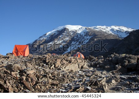 camping on the summit of kilimanjaro