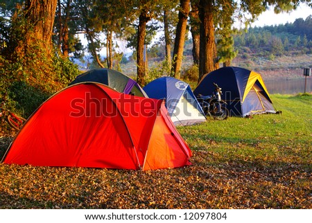 Camping place - stock photo