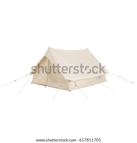 Camping Tent Isolated on White Background. #657811705
