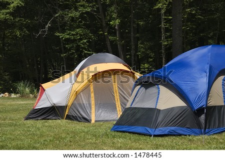Camping Tents in the Mountains