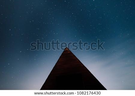 Stock Photo Camping under stars