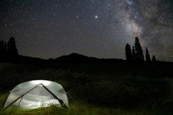 Camping Under the Milky Way in Colorado