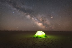 Camping under the stars at Assateague Island in Maryland