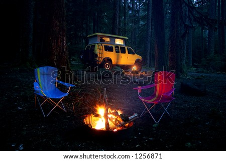 Camping with 4x4 RV van at Mt.Rainier State Park, WA