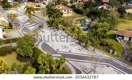 Campo Alegre SC - Aerial view of the Cascatinha boardwalk Foto stock ©